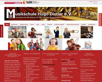 Screenshot (small) http://www.musikschule-hugo-distler.de