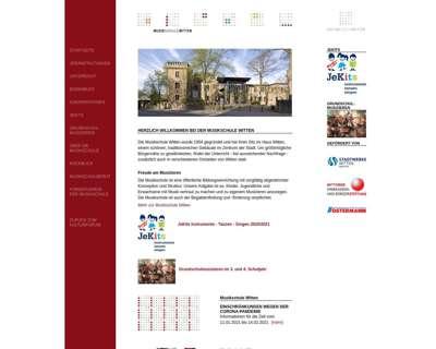 Screenshot (small) http://www.musik-schule-witten.de