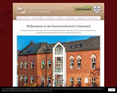 Screenshot (small) http://www.kreismusikschule-uckermark.de
