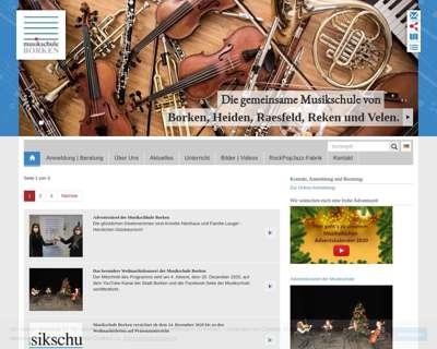 Screenshot (small) http://www.musikschule.borken.de
