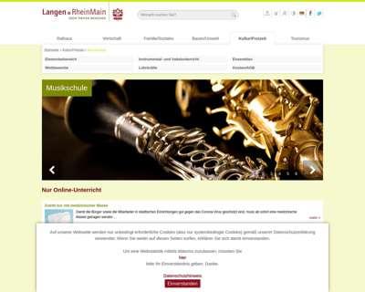 Screenshot (small) http://www.musikschule-langen.de