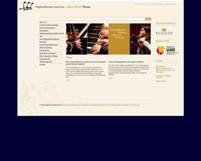 Screenshot (small) http://www.vogtlandkonservatorium.plauen.de