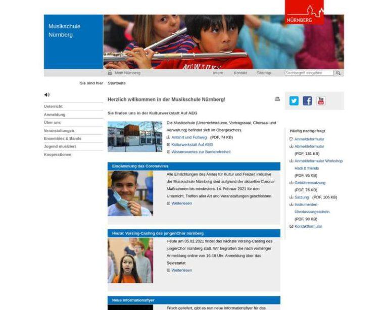 Screenshot (middle) http://www.musikschule.nuernberg.de