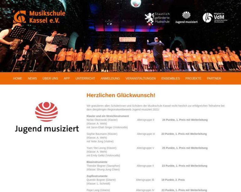 Screenshot (middle) http://www.musikschule-kassel.com
