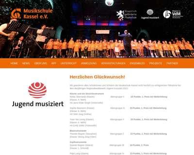 Screenshot (small) http://www.musikschule-kassel.com