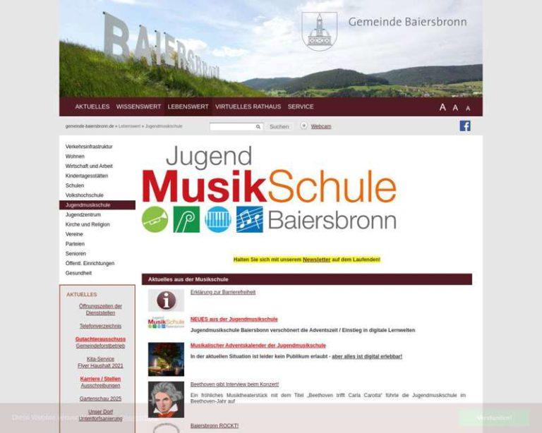 Screenshot (middle) http://www.jugendmusikschule-baiersbronn.de