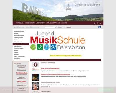 Screenshot (small) http://www.jugendmusikschule-baiersbronn.de