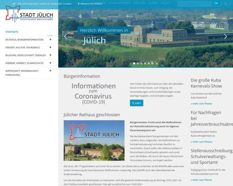 Screenshot (middle) http://www.juelich.de