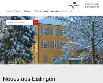 Screenshot (small) http://www.eislingen.de