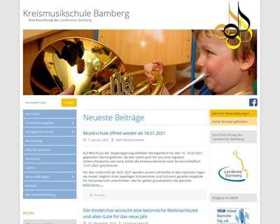 Screenshot (small) http://www.kreismusikschule-bamberg.de