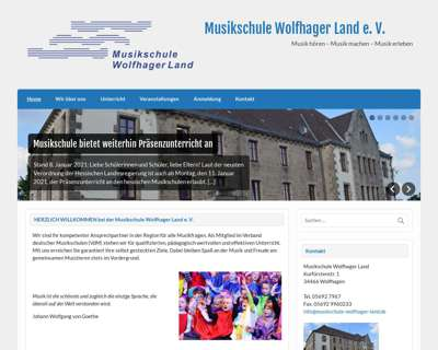 Screenshot (small) http://www.musikschule-wolfhager-land.de