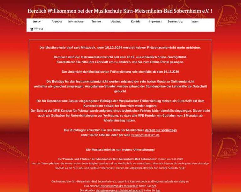 Screenshot (middle) http://www.musikschule-kirn.de