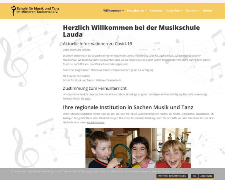 Screenshot (middle) http://www.musikschule-lauda.de