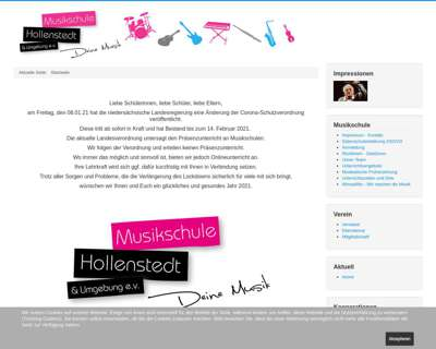 Screenshot (small) http://www.musikschule-hollenstedt.de