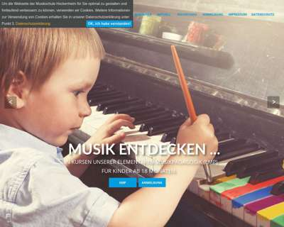 Screenshot (small) http://www.musikschule-hockenheim.de