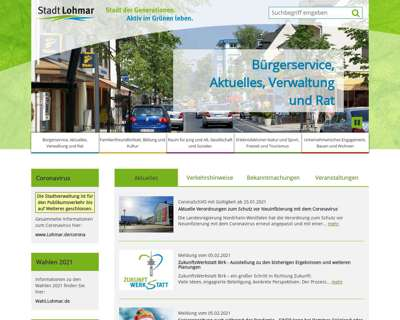 Screenshot (small) http://www.Lohmar.de