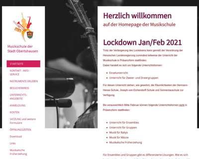 Screenshot (small) http://www.musikschule-obertshausen.de