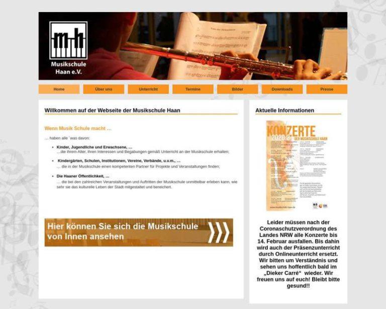Screenshot (middle) http://www.musikschule-haan.de