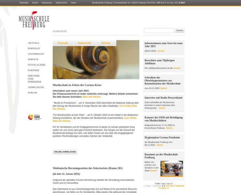 Screenshot (middle) http://www.musikschule-freiburg.de