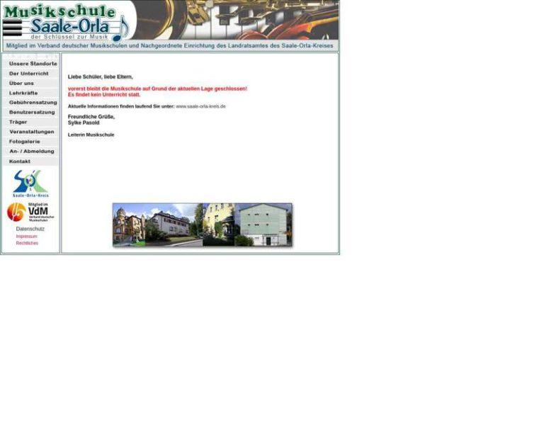 Screenshot (middle) http://www.musikschule-saale-orla.de