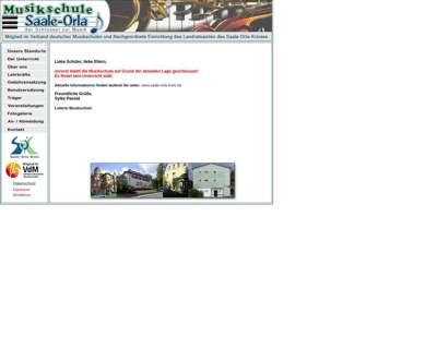Screenshot (small) http://www.musikschule-saale-orla.de