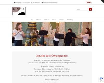 Screenshot (small) http://www.musikschule-eichstaett.de