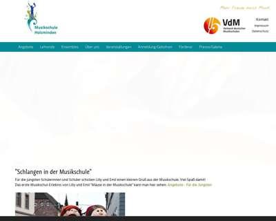 Screenshot (small) http://www.musikschule-holzminden.de