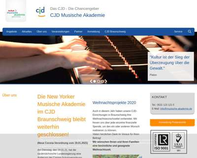 Screenshot (small) http://www.musische-Akademie.de