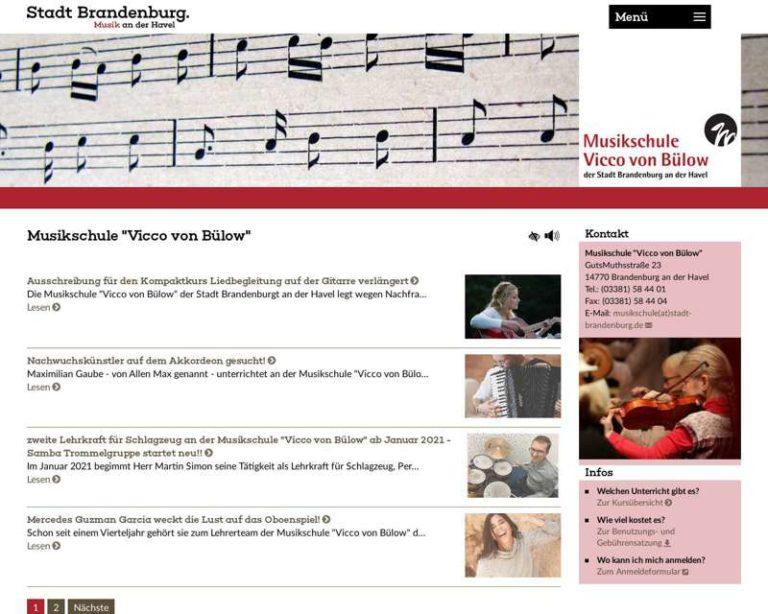 Screenshot (middle) http://www.musikschule-brandenburg.de