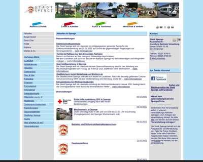 Screenshot (small) http://www.spenge.de