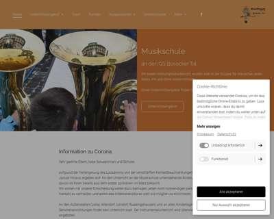 Screenshot (small) http://www.musikschule-buseck.de