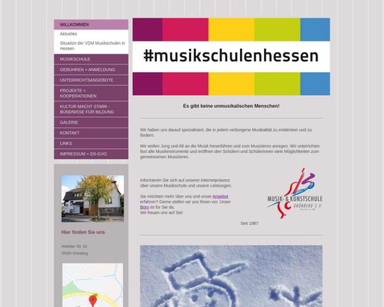 Screenshot (middle) http://www.musikschule-gruenberg.de