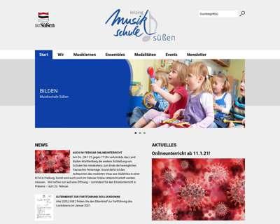 Screenshot (small) http://www.musikschule.suessen.de