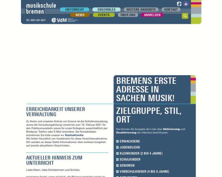 Screenshot (middle) http://www.musikschule.bremen.de