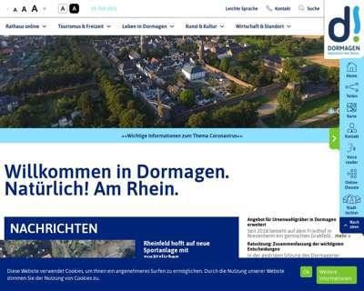 Screenshot (small) http://www.dormagen.de