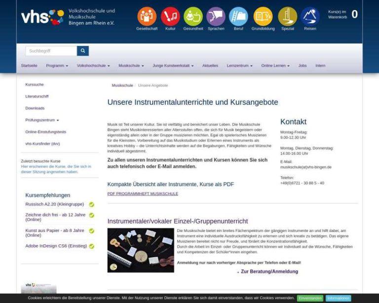 Screenshot (middle) http://www.musikschule-bingen.de