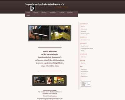 Screenshot (small) http://www.jugendmusikschule-wiesbaden.de