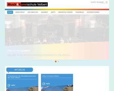 Screenshot (small) http://www.musikundkunstschule-velbert.de