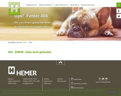 Screenshot (small) http://www.hemer.de/leben/musikschule/Start_Musikschule.php