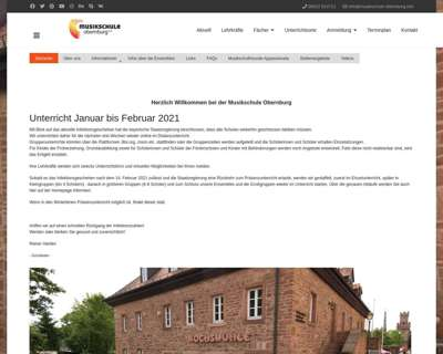Screenshot (small) http://www.musikschule-obernburg.info