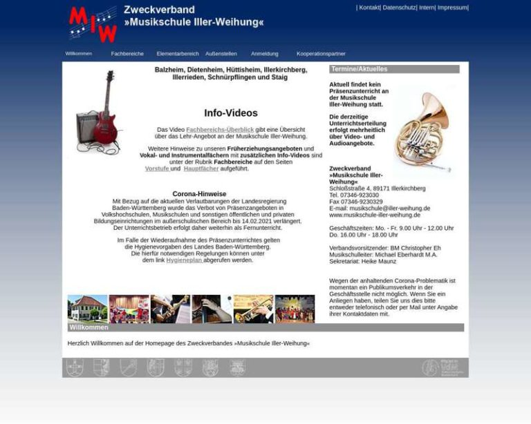 Screenshot (middle) http://www.musikschule-iller-weihung.de