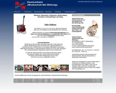 Screenshot (small) http://www.musikschule-iller-weihung.de