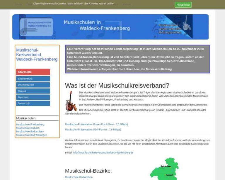 Screenshot (middle) http://www.Musikschulkreisverband-waldeck-frankenberg.de