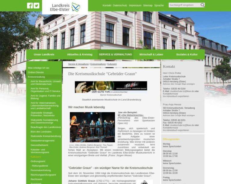 Screenshot (middle) http://www.lkee.de/Kreismusikschule