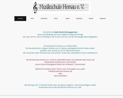 Screenshot (small) http://www.musikschule-hemau.de