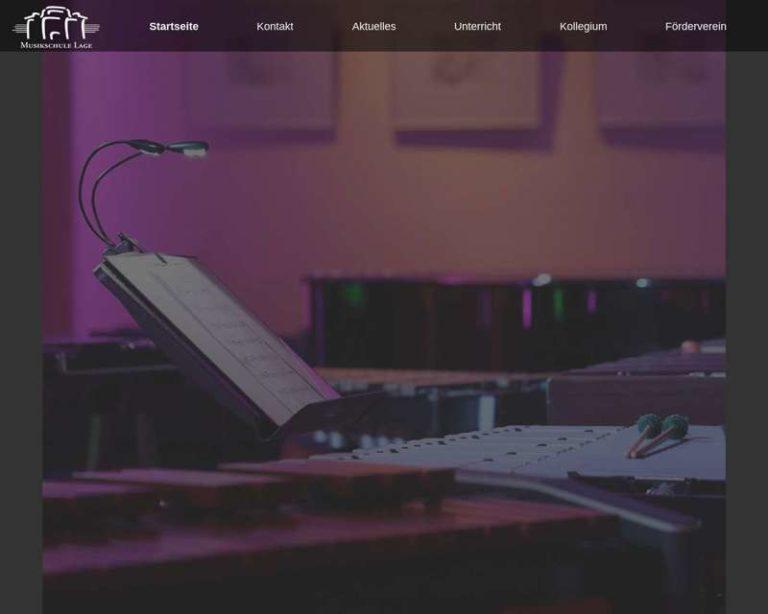 Screenshot (middle) http://www.musikschule-lage.de