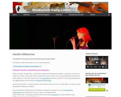 Screenshot (small) http://www.musikschule-kamp-lintfort.de