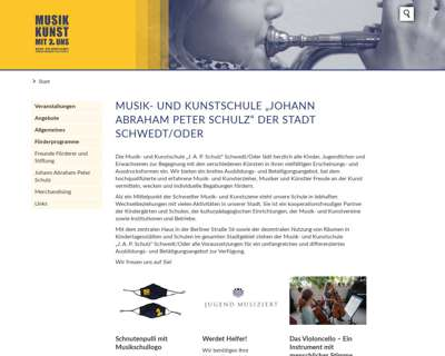 Screenshot (small) http://www.musikschule-schwedt.de