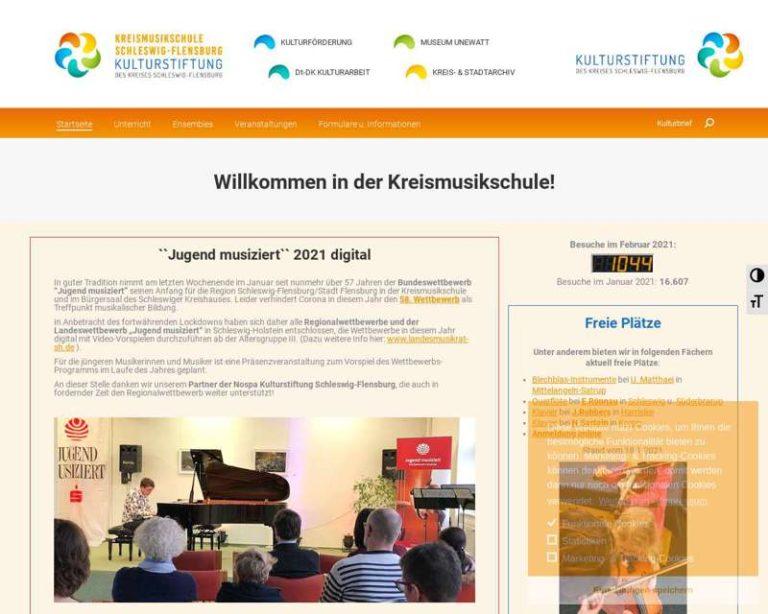 Screenshot (middle) http://www.kms-schleswig-flensburg.de