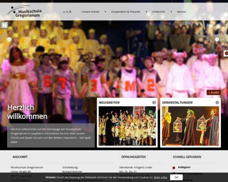 Screenshot (middle) http://www.musikschule-laupheim.de